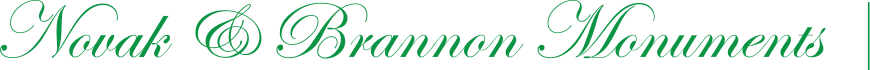 Novak and Brannon Monument Company Logo